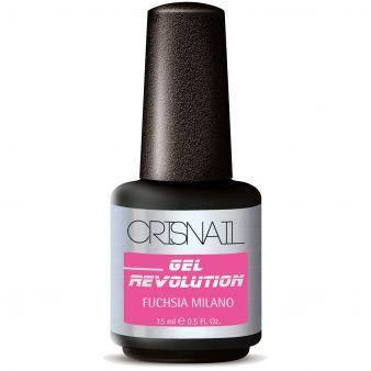 Crisnail Gel Revolution Gel Polish, Fuchsia Milano Gel Nail Polish-15ml