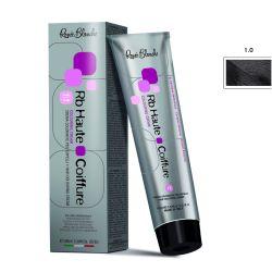 Renee Blanche Haute Coiffure Professional Hair Color, Hair dye - 1.0 Nero Black, 100 ml- Italy