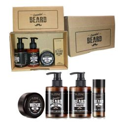 Renee Blanche Hzone Beard kit- Beard Set, Beard Shampoo, Wax, Oil and Balm-Italy