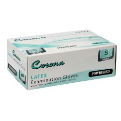 Corona Disposable Latex Gloves Set of 100, Small