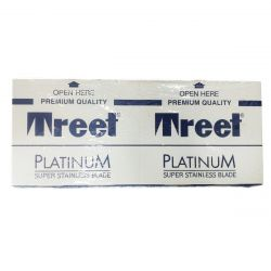 Treet Platinum Super Stainless Double Edge Razor Blades, (100 Blades)